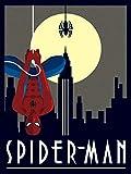 Pyramid International AFWDC92239 'Marvel Deco Spider Man Hanging' - Lienzo decorativo (algodón, 1,80 x 30 x 40 cm), multicolor