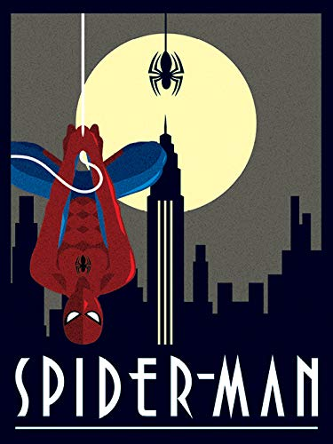 "Pyramid International AFWDC92239 ""Marvel Deco Spider Man Hanging"" - Lienzo decorativo (algodón, 1,80 x 30 x 40 cm), multicolor"