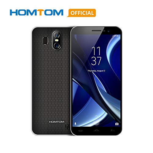 Original HOMTOM S16 5.5 Inch 18:9 Full Screen Mobile Phone, 2GB RAM 16GB ROM MTK6580 Quad-Core Cell Phone, 3000mAh Fingerprint 13MP 8MP Cameras Ultra-Thin 3G WCDMA Smartphone-Black