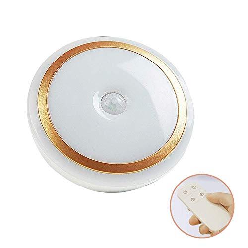 Mini wandlamp voor wandlamp met afstandsbediening in modern wit voor decoratieve installatie, 10 standen, timer 10 min, wandlamp voor wandmontage