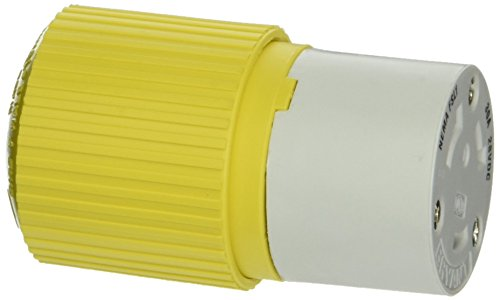 Hubbell Wiring Systems HBL328DCC Locking Connector Body, 30A, 28 VDC, Yellow