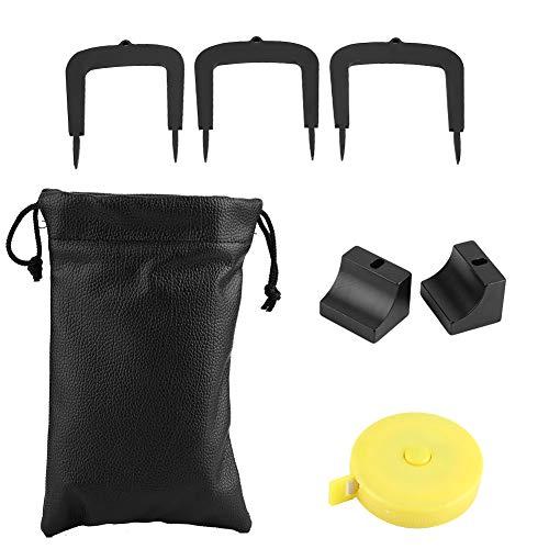 Esenlong Kit de palo de golf, aleación de aluminio, kit de objetivo de golf, 3 puertas de portería con 2 bases, bolsa de almacenamiento, cinta métrica