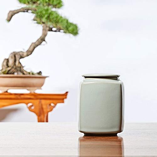 Pot de cuisine Ru Kiln Tea Caddy, à thé Accessoires, thé Caddy, Caddy Awakening thé, Boîte à thé en céramique, thé Pu'er Caddy, tasse de thé, thé Réservoir de stockage, Ru thé en porcelaine boîte scel