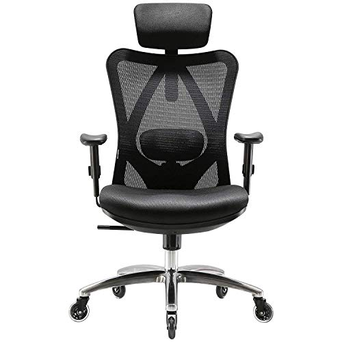 SIHOO Ergonomic Home Office Chair, Adjustable Headrest And...