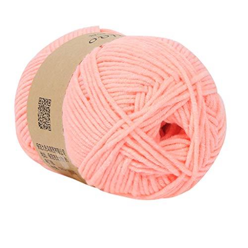 Serria® 50 Gramm 5 Stränge Milch Baumwolle handgestrickt DIY Watte Wolle weich, atmungsaktiv Durchmesser ist ca. 2,5 mm Dicker Milchbaumwolle