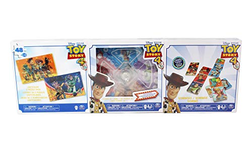 Cardinal Toy Story Pack de 3 Juegos, Puzle, Parchis, Domino (BIZAK 61929812)