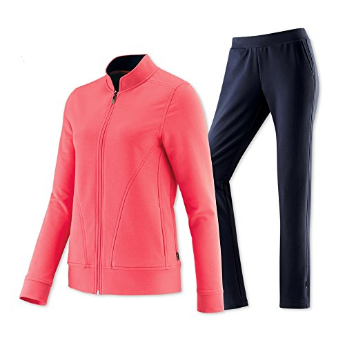 Schneider Sportswear Damen DOTYW-Anzug Trainingsanzug, peachpink/dunkelblau, 21