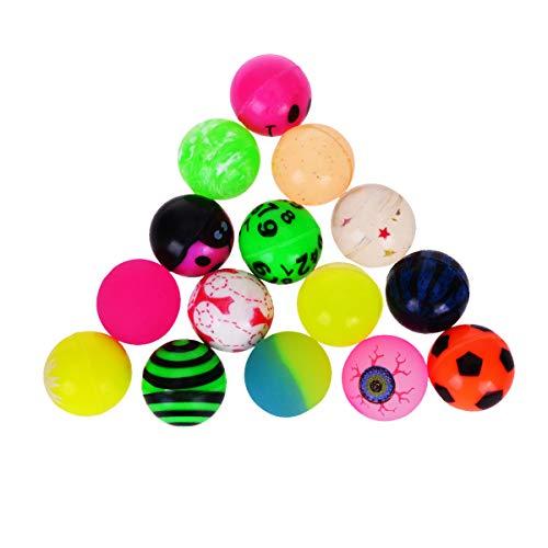 YoungRich 20er BälleBad Bälle BaByBälle 25 mm im Durchmesser Bunte Spielbälle Bälleset Bällepool Plastikbälle Gummibouncy Balls 25 mm im Durchmesser Assorted Muster Zufällige Farbe für Kids Party