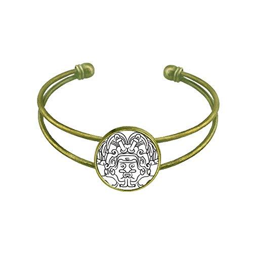 DIYThinker Bracelet asymétrique Ailes de la figurine égyptienne Fresco