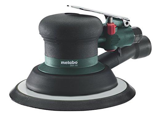 Metabo 601558000 601558000-Lijadora excéntrica neumática DSX 150 Demanda de Aire 550 l/seg, Negro