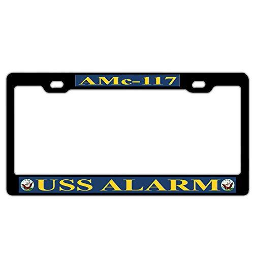 DAGEDA License Plate Personal Design Cover License Plate Auto Tag Metal Plate 6x12 Inch USS Alarm AMc-117