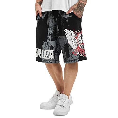 Yakuza Herren Burning Skull Sweat Shorts