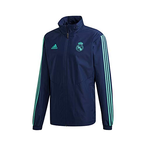 adidas Real Madrid EU AW 2019-2020, Chaqueta, Night Indigo-HI-Res Green