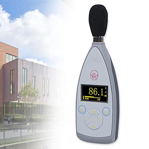 Medidor De Decibelios PonderacióN A/C/Z, SonóMetro MicróFono de Condensador, Detector de Medidor de Ruido Pantalla LCD Retroiluminada