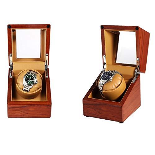 LDDLDG Caja giratoria para Relojes Automático Enrollador automático de un Solo Reloj con Motor Mabuchi silencioso (Color : S)