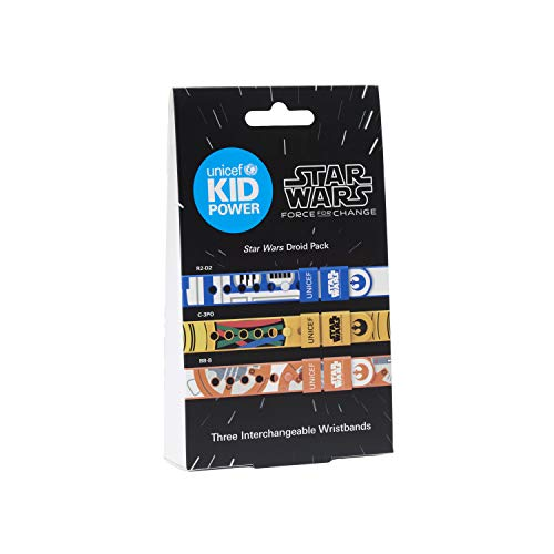 UNICEF Kid Power Droid Pack - Band Accessory Straps to Customize Your Band with Star Wars Designs of BB8, C3PO and R2D2