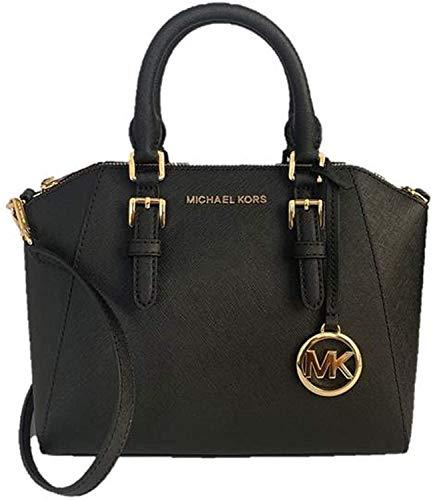 Michael Kors - Ciara - Bolso tipo messenger, de cuero, acabado saffiano, tamaño...