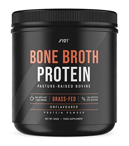 Grass Fed Bone Broth Protein Powder - Unflavoured - Pasture Raised Bovine...