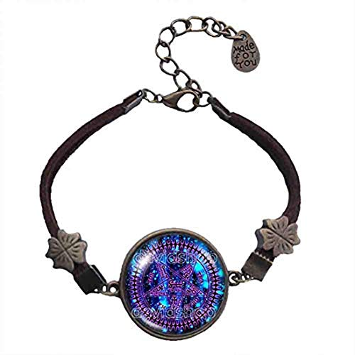 Handmade Fashion Pentagram Art Symbol Black Butler Bracelet Tetragrammaton Pendant Ciel Phantomhive Jewelry Charm Cosplay