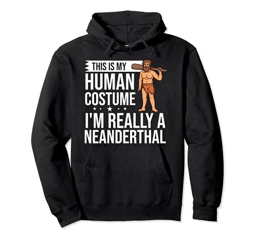 Neanderthal Caveman Regalo Dna Mujer Calavera Sudadera con Capucha