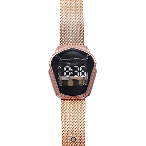 Hktec Reloj de pulsera para hombre, LED, metal, deportivo, electrónico, digital, cuarzo, retro, regalo para el día del padre, para exterior, viajes, negocios, trabajo, fiesta