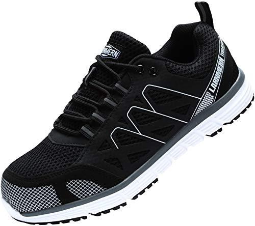 LARNMERN Zapatos de Seguridad Hombre, SRC Antideslizante Anti Estático Zapatos de Trabajo...