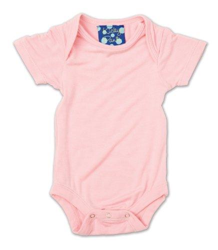 Kickee Pants Baby Girls' Short Sleeved One-Piece, Lotus