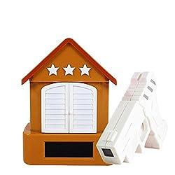 Cuckoo Creative Alarm Clock Pistol Shooting Shooting Bird Alarm Clock Room Lazy Person Alarm Clock , brown with gun