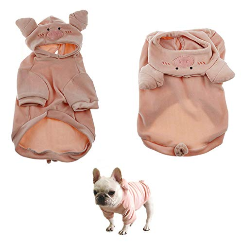 Zakynuye Dog Sweater, Pet Pig Pattern Sweatshirt for Small Dogs Cats, Puppy Hoodie Jacket for Spring, Winter & Autumn, French Bulldog Warm Apparel Outfits, Novel Design Cute Dog Vest