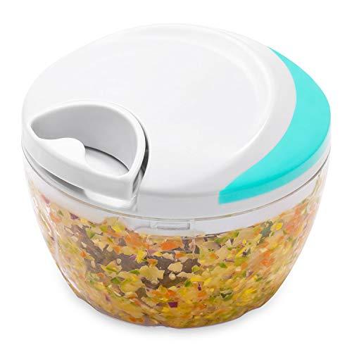 JIANFA Manual Food Chopper, Vegetable Chopper Mincer Blender to Chop Fruits Vegetables Nuts Herbs Onions Garlics for Salsa Salad Pesto Coleslaw Puree