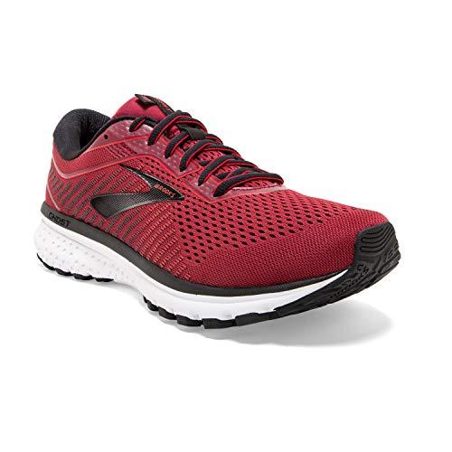 Brooks Mens Ghost 12 Running Shoe - Red/Biking Red/Black - D - 9.0