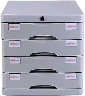 GJSN Armoire de rangement multifonction de bureau – Armoire à dossiers coulissant Petit tiroir blanc étiquette de rangemen...