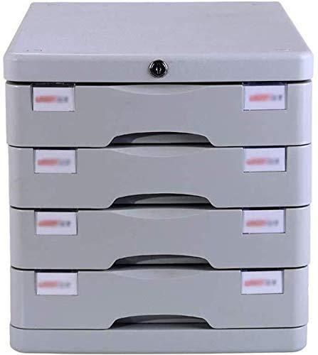 GJSN Armoire de rangement multifonction de bureau – Armoire à dossiers coulissant Petit tiroir blanc étiquette de rangement en plastique – 28,2 x 36,5 x 28,5 cm