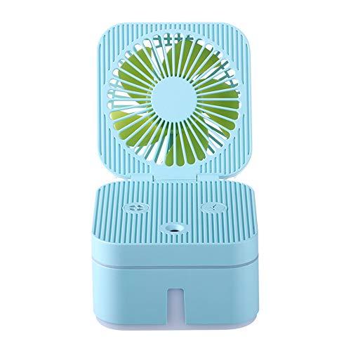 YL-WLJ Humidificador Facial USB Mute Ventilador pequeño Mini Mesa Ventilador eléctrico portátil,Blue