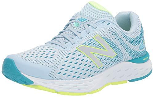 New Balance Women's 680 V6 Running Shoe, Grey/Blue/Lemon, 9.5