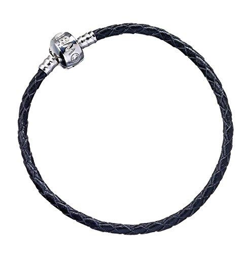 Large Adult Size 20Cm Official Harry Potter Black Leather Bracelet For Slider Charms