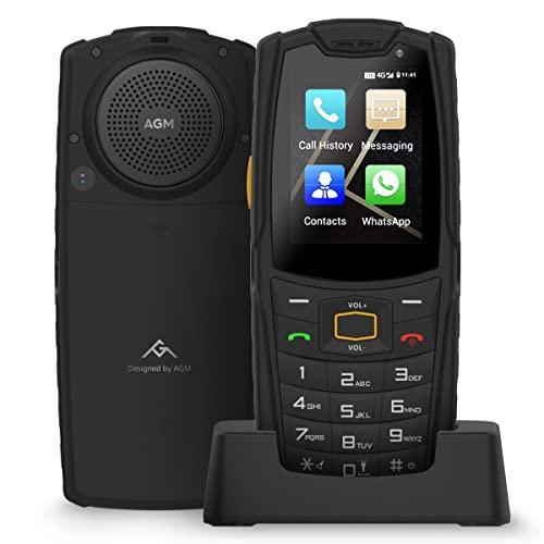 """Robustes Outdoor Handy ohne Vertrag, AGM M7 4G LTE Dual SIM Seniorenhandy Super Lautsprecher,IP68 wasserdicht, Staubdicht, 2,4\"""" Touchscreen 1GB+8GB Tastenhandy 2500mAh Baustellen Handy mit Ladestation"""