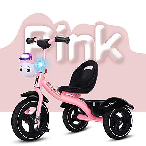 SHARESUN 2 In 1 Kids Childen Trike driewieler Fiets Met Muziek Voormandje, Hoog koolstofstaal frame Titanium leeg wiel 3 Wiel Pedaal Fiets, voor 2-6 Jaar oud