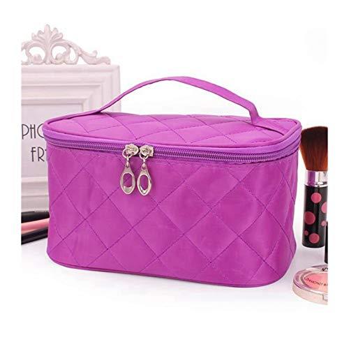 A-YSJ Neceser Maquillaje Bolsa Cosmética De Viajes para Mujer Cosméticos De Celosía Cosméticos para Hombre Baño De Almacenamiento De Lavado De Baño (Color : Purple)