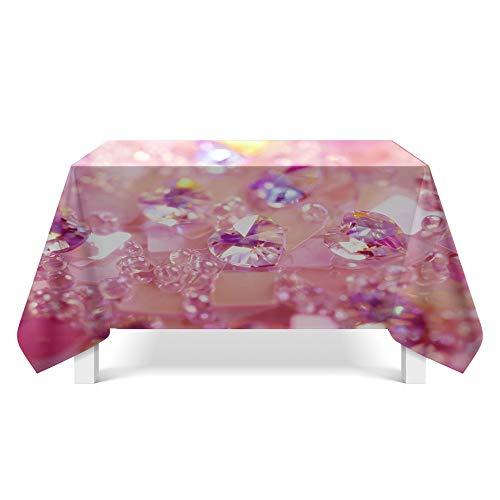 DREAMING-Kristall Textur Stoff Tischdecke Home Esstisch Stoff Tv-Schrank Couchtisch Stoff Runde Tisch Tischset 140cm * 200cm