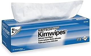 Kimberly-Clark 34705 Kimwipes 2-Ply Delicate Task Wipes, 11.8