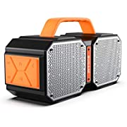 BUGANI M83 Bluetooth Speakers, 40W Waterproof Outdoor Bluetooth 5.0, Wireless stereo Pairing Booming Bass Speaker, 2400 Minutes Playtime With Change Your Phone, for Home Party, Gym (orange)