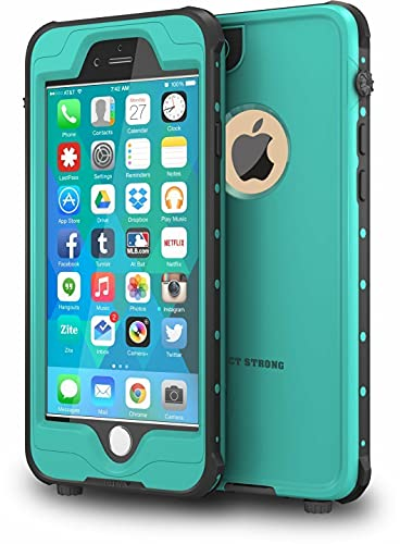 ImpactStrong iPhone 6 Waterproof Case [Fingerprint ID Compatible] Slim Full Body Protection Cover for Apple iPhone 6 / 6s (4.7') - Ocean Blue