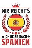 Spanien Notizbuch: Spanien Urlaub Spruch Spanische Flagge Mallorca / 6x9 Zoll / 120 ausfüllbare Seiten Seiten