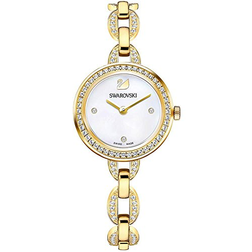 Swarovski Aila Mini Damen-Armbanduhr 28mm Armband Edelstahl Gold Quarz 5253335