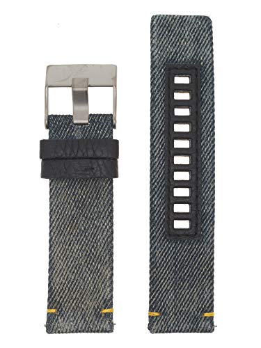 Diesel Uhrenarmband 24mm Leder Blau Uhrband DZ-1689 / LB-DZ1689