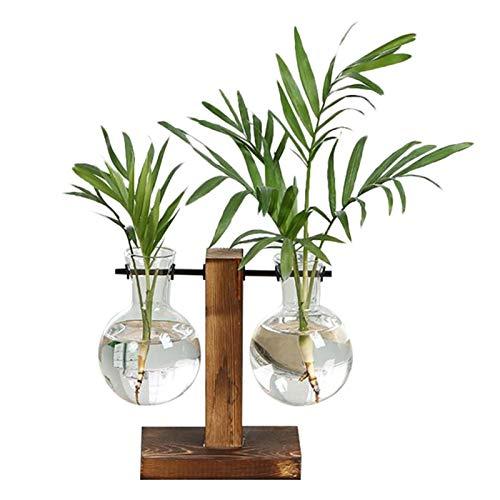 Maceta flores Terrario jarrones de planta hidropónica vintage maceta florero transparente marco de...