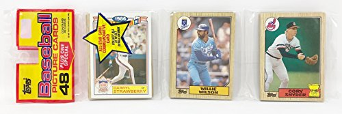 1986 Unopened 48 Count Baseball Rack Pack + 1 All Star Commemorative Card - Darryl Strawberry New York Mets (49 Total Cards)