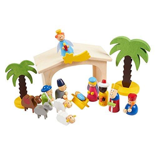 Blue Panda 15-Piece Kids Nativity Set - Christmas Nativity Scene Playset Figures