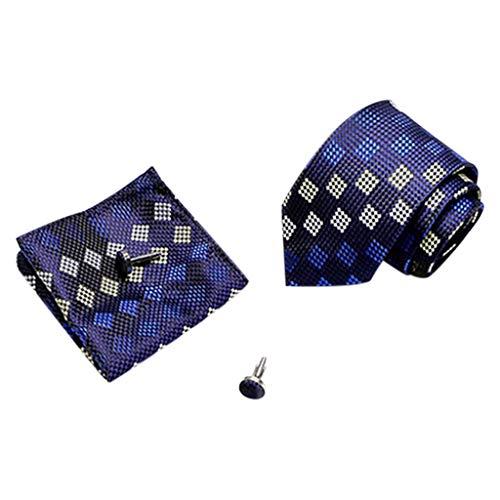 Hffan Graziös Paisley Elegant Herren Krawatte und Einstecktuch mit krawattenklammer Sets